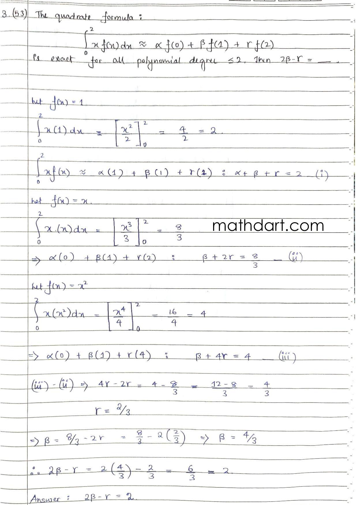 GATE Numerical Analysis 2021