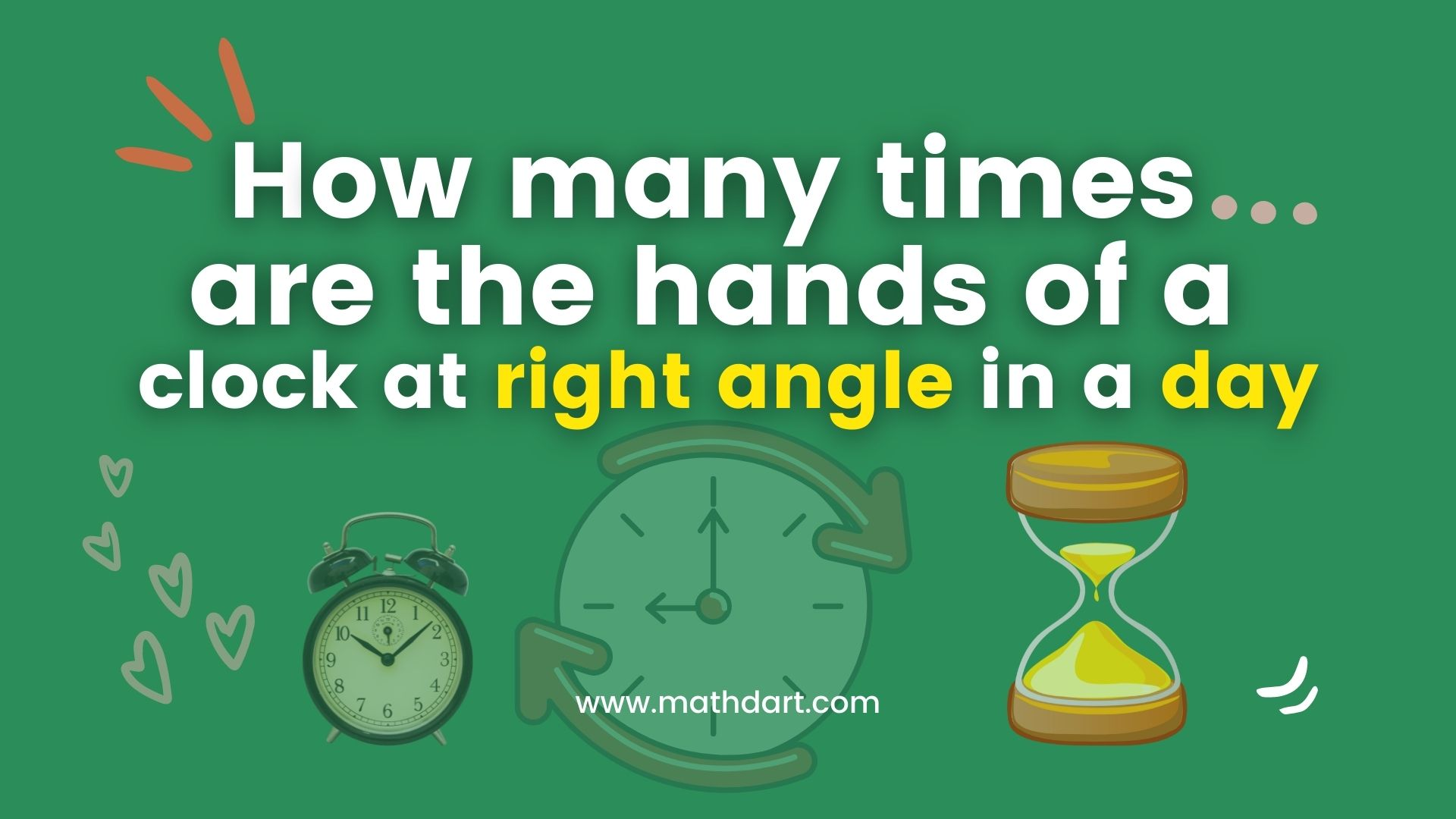 How many times are the hands of a clock at right angle in a day?